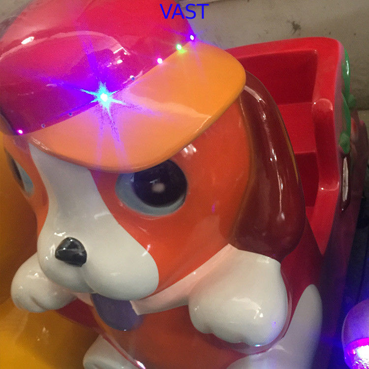 High Safety Animal Cute Dog Kiddie Ride Machines Swing Back And Forth